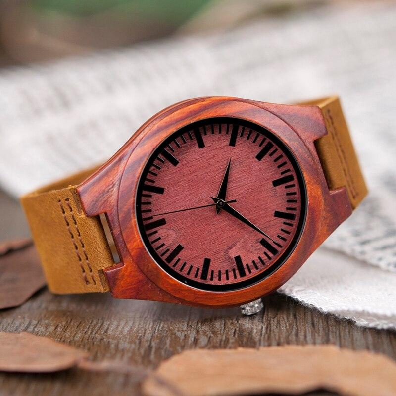 40396abc5a1 BOBO PÁSSARO V L15 Subiu Relógio De Madeira Dos Homens Simples Item ...