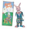 Классическая коллекция Ретро Заводной счастливый кролик Wind up Металл Шагающего Олова play барабана кролик робот Механическая игрушка подарок для ребенка
