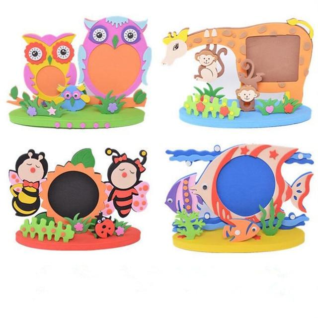 Cartoon Animal Photo Frames Handmade DIY Eva Foam Picture Frame Kids