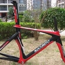 Новое поступление!! Naturefly карбоновая рама для велосипеда 700c красный/черный/белый