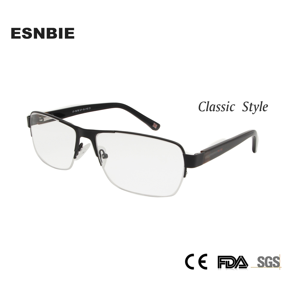 ESNBIE Vintage Eyeglasses Men Small Round Metal Eye Glasses Frames ...