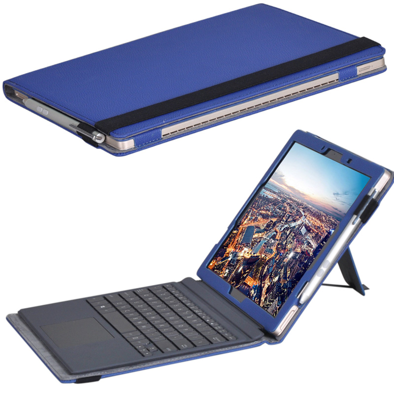 ocube Luxury Folio Stand PU Leather Keyboard Case Cover For ASUS Transformer 3 Pro T303U 12.6 Tablet PC asus transformer 3 pro t303ua 12 6
