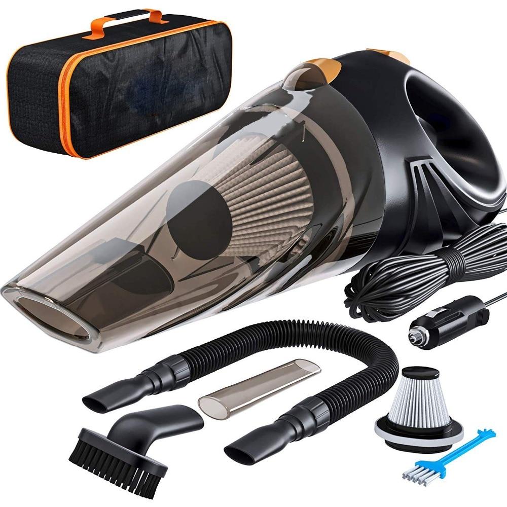 4800pa мощный автомобильный пылесос 120 Вт с сумочкой кПа циклонный влажный/сухой Авто Портативный пылесос 2 HEPA