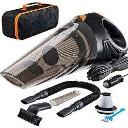 4800pa قوة قوية سيارة مكنسة كهربائية 120 واط مع حقيبة يد 4.8KPA إعصار الرطب/الجاف السيارات المحمولة المكانس الأنظف 2 HEPA