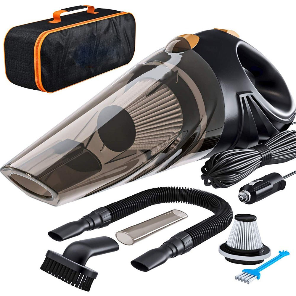 4800pa Strong Power Car Vacuum Cleaner 120W With Handbag 4.8KPA Cyclonic Wet/Dry Auto Portable Vacuums Cleaner 2 HEPA