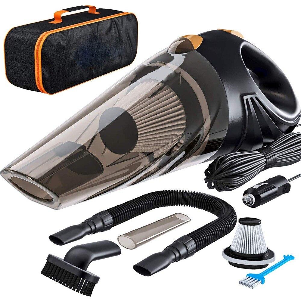 4800pa forte potência aspirador de pó do carro 120 w com bolsa 4.8kpa ciclônica molhado/seco auto aspirador portátil 2 hepa