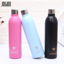 JOUDOO New 500ml Stainless Steel Sport Thermos Bottle Outdoor Portable Thermoses Cup Brief Double Wall Water 35