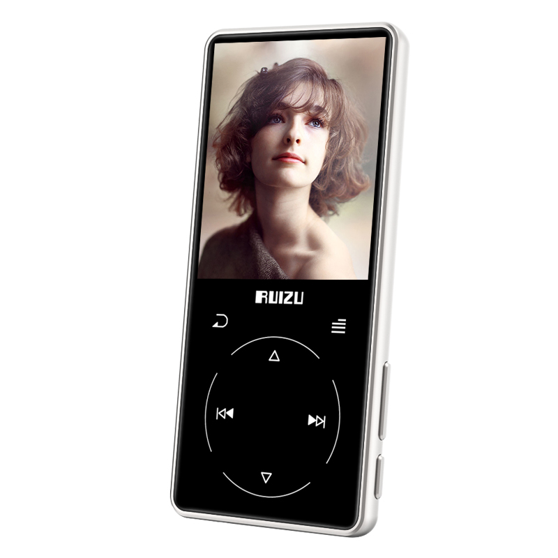 New Metal Original RUIZU D16 Portable Sport Bluetooth MP3 Player 8gb Mini with 2.4 inch Screen Support FM,Recording,E-Book,Clock