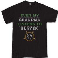 SLAYER parody T-shirt S M L XL 2XL 3XL Trash metal band Jeff Hanneman
