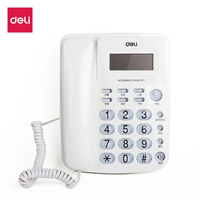Deli Brand 787 Quality Corded Phone Fixed Home Durable Elegant Desk Telephone Landline Home Office Supples