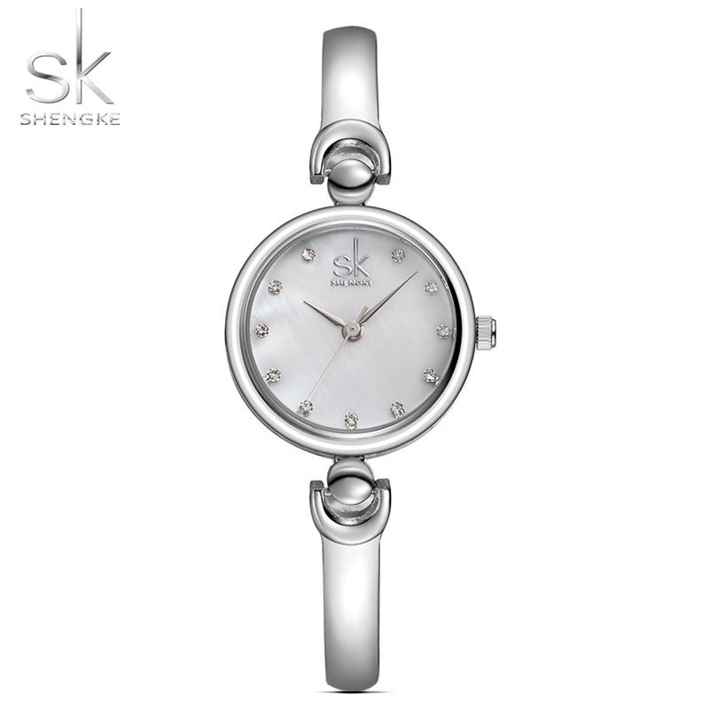 Shengke Reloj Mujer אופנה צמיד שעוני יד המותג נקבה ז'נבה קוורץ שעונים שעון Waterproof Waterproof Wristwatch 2017