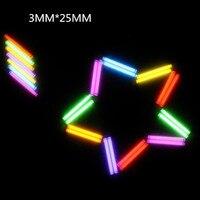 6 Colores Tubo de Gas de Tritio 3*25 MM 1 UNIDS EDC Auto luminoso 25 Años De Productos de Alta tecnología EDC Multi-Selección de color de Cristal tubo