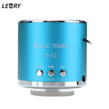 LEORY New Mini Speaker Radio Super Bass Wireless Radio FM Speaker TF Card AUX USB Disk For Smartphone Tablet MP3 PC 6 Colors