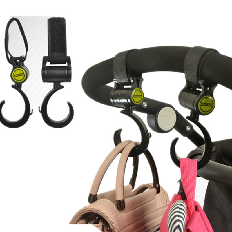 2pcs/Lot Baby Stroller Hook Bag Handle Grab Prams Car Accessories Hooks Rotate 360 Bugaboo  Stroller Hange Hook Multifunction