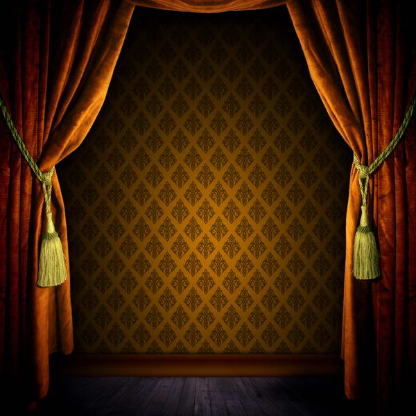 Orange Curtains Flower Room Photo Backdrop Vinyl Cloth High Quality Computer Print Wall Photography Studio Background In From Consumer