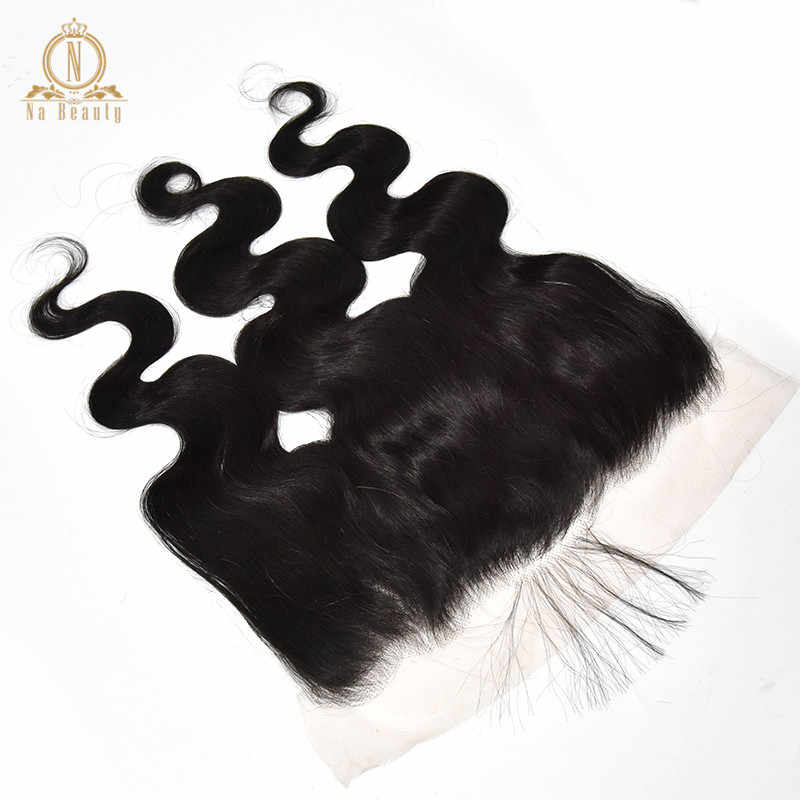 13x6 Transparent Lace Frontal Body Wave Ear To Ear Remy Human Hair Clear Big Swiss Lace Front Closure Natural Black For Women