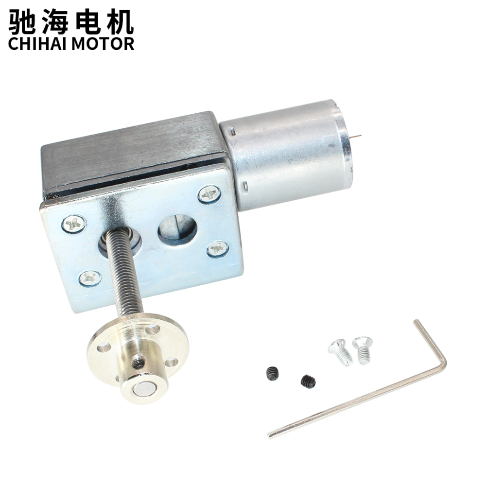 ChiHai Motor CHW4632-370 permanent magnetic worm reducer motor power off self-locking Threaded shaft nut with mounting bracketChiHai Motor CHW4632-370 permanent magnetic worm reducer motor power off self-locking Threaded shaft nut with mounting bracket