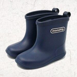 Image 5 - Çocuklar çocuk kauçuk yağmur çizmeleri kız erkek çocuk ayak bileği Rainboots su geçirmez ayakkabı yuvarlak ayak su ayakkabısı yumuşak kauçuk ayakkabı