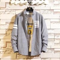 2019 spring classic vertical stripes men's shirt spring models explosion men's casual shirt jacket
