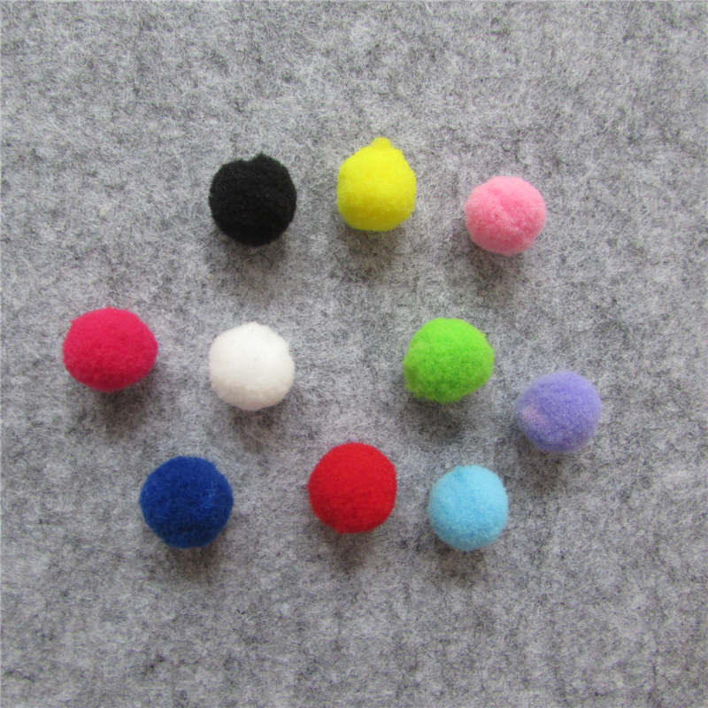 1000pcs 15mm Multi Colors Pompoms Fur Craft DIY Soft Pom Poms Wedding Decoration/Sewing On Cloth Accessories Free Shipping