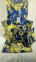 Waterproof Ankara Wax Tissue Matching Women Hand Bag African Cotton Wax Fabric Bag For Party Or
