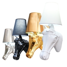 Wall-Lamps Bed-Room Bedside Study BLUBBLE Metal European 85-265V AC Resin Horse-Head