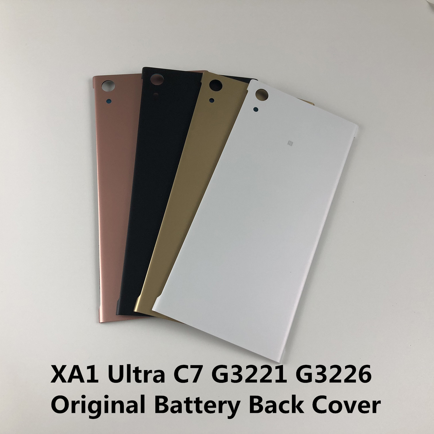 Original For SONY XPERIA XA1 Ultra C7 G3221 G3226 Housing Battery Back Cover With Logo+Sticker Adhesive