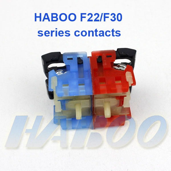 10pcs packing HABOO F22mm & F30mm series switches contacts high quanlity factory direct 1NO/1NC/1NO+NC