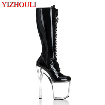 sexy supermodels catwalk shoes Super high heels shoes 20 cm COS props nightclub Paris fashion boots image