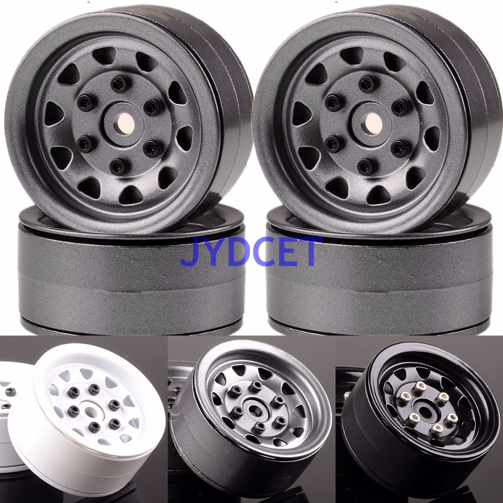 1066 1.9 Beadlock Aluminum Wheel Rim For RC 1/10 Rock Crawler Axial TRX-4 TRX4 mxfans rc 1 10 2 2 crawler car inflatable tires black alloy beadlock pack of 4