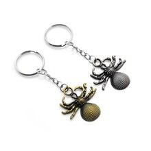 Original New Vintage Gold Spider Keychain For Men Retro Silver Cute Mini Spider key Ring Women Bag Charm Trinket Key Holder Gift цена и фото
