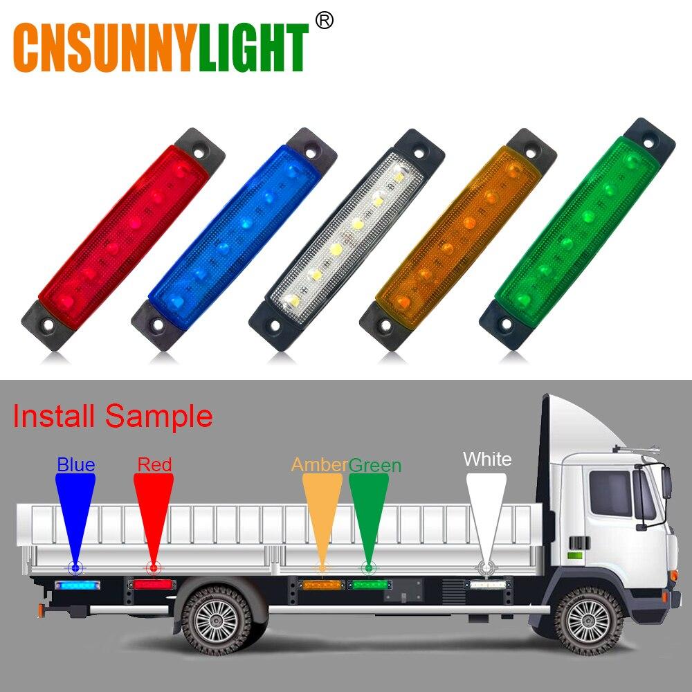 CNSUNNYLIGHT Auto LED Seite Freiheit Lampe Schwanz Umge Blinker Licht Lkw Anhänger  Lkw UTE Warnung Nebel Parkplatz Beleuchtung Bar