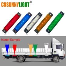 CNSUNNYLIGHT Car LED Side Clearance Lamp Tail Reverse Turn Signal Light Truck Trailer Lorry UTE Warning
