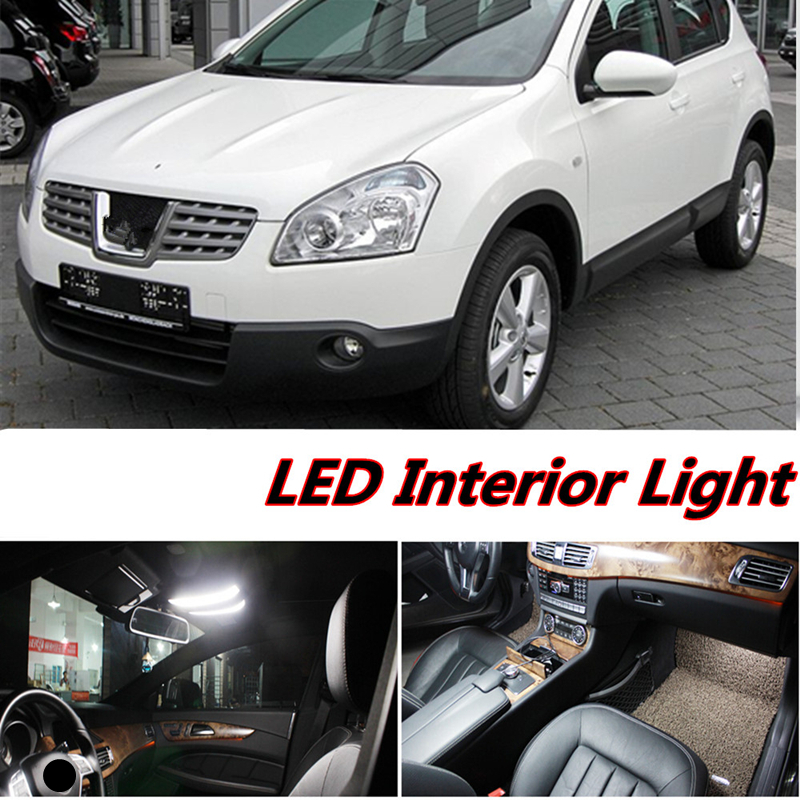 Tcart 6pcs X free shipping Error Free LED Interior Light Kit Package for nissan qashqai accessories 2004-2013 9pc x free shipping xenon white for mazda 6 for mazda6 atenza wagon led interior light kit package 2013