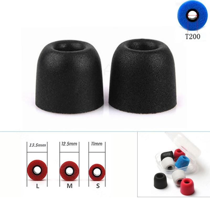 ANJIRUI 2 Pcs/1pairs T200 (L M S) Caliber Ear Pads/cap Memory Foam Eartips For Ear Headphones Tips Sponge Ear Cotton