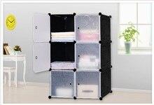 Proste szafy 6 DIY PVC fold przenośna pamięć masowa szafka dormitorium stal montaż ramy szafki szafa studencka darmowa wysyłka