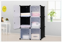 Simple wardrobes 6 DIY PVC fold Portable Storage Cabinet Dormitory Steel frame assembly lockers Student wardrobe free shipping