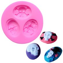 Halloween Skull Silicone Bakeware Lace Mold Cake Decorating Tools Biscuit Stencils Cakes Molds