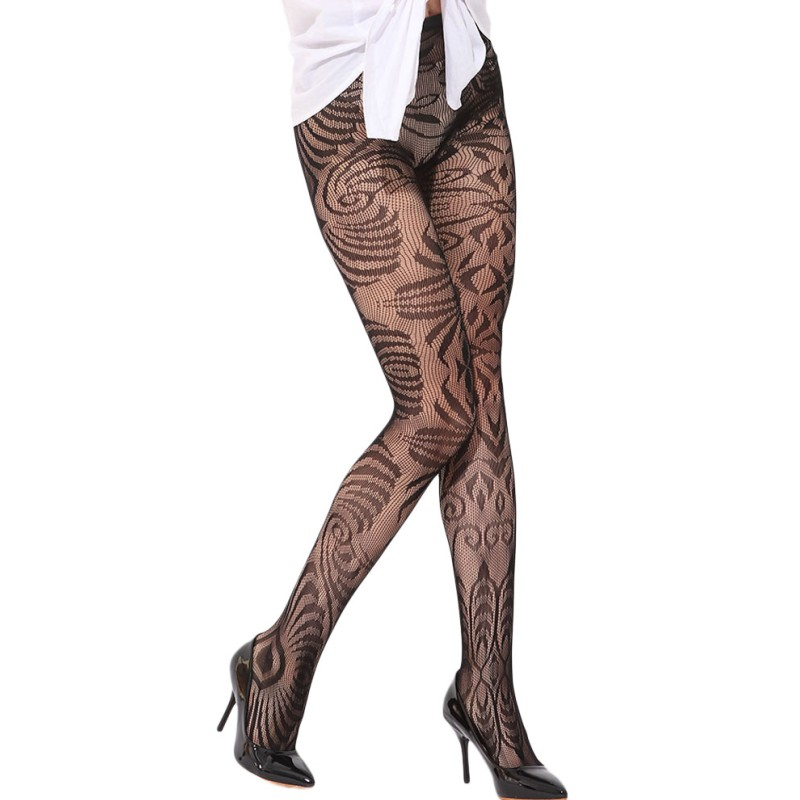 Black arabesque jacquard seamless pantyhose stockings sexy leg wear tights women hot sale super cheap clothing china SA79911