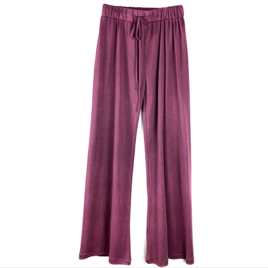 Wide     Leg     Pants   women Trousers Pure Color Plus Size High waist   Wide  -  Leg     Pants   Straight Casual