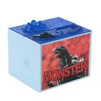 1 Pcs Lot Cute Cartoon Godzilla Movie Musical Monster Moving Electronic Coin Money Piggy Bank Box
