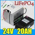 24В 20AH LiFePO4 аккумулятор Электрический велосипед Скутер 24В литиевая батарея