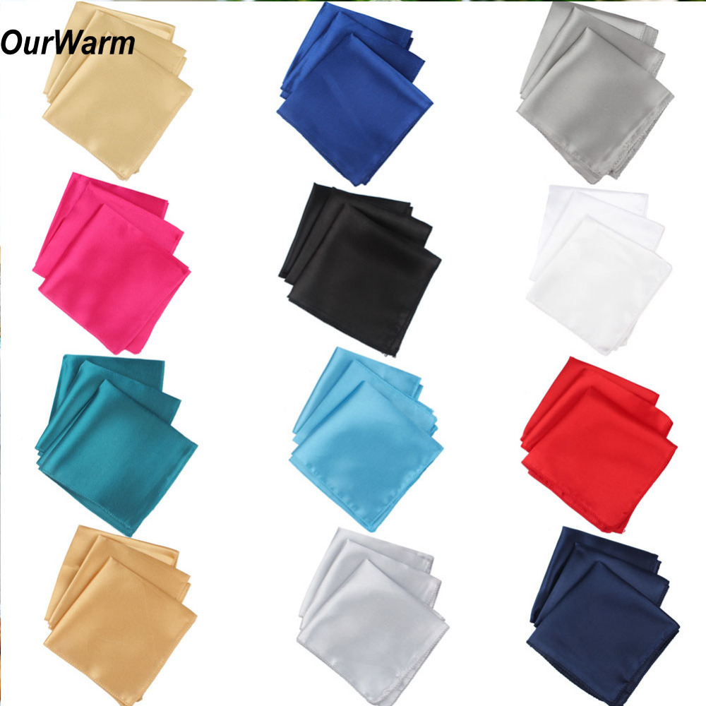 Ourwarm 100pcs Wedding Table Napkins 30cm Knitted Table Napkin Satin Handkerchief Cloth Dinner Wedding Decoration Party Event ...