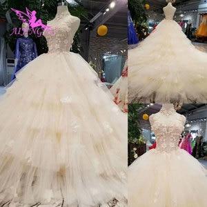 Image 5 - Aijingyu Eenvoudige Trouwjurk Toga In Ivoor Engagement Libanon Plain Simple Bridal Koop Een Gown Luxe Trouwjurken