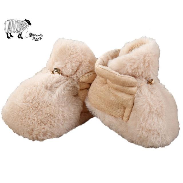 Adorável bebê recém-nascido da menina do inverno algodão crib shoes criança bebê menino unisex quente tira grossa macio antiderrapante moda shoes