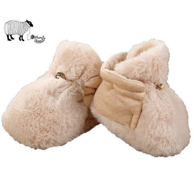 Lovely Newborn Baby Girl Winter Cotton Crib Shoes Toddler Baby Boy Unisex Warm Thick Strip Soft Non Slip Fashion Shoes