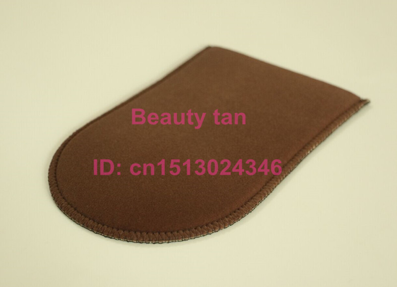 20pcs/lot Self Tan Mitt,  Brown Soft Velvet with Black Fabric, Reusable for Self Tanning Lotion