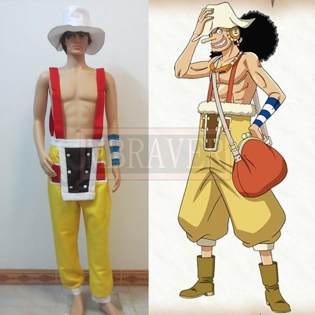 Free Shipping One Piece Usopp Cosplay Costume Custom Made Any Size