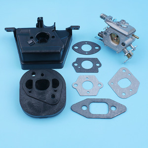 Image 5 - Kit de soporte de filtro de aire para carburador, Colector de admisión para MCCULLOCH MAC CAT 335 435 440, pieza de repuesto para motosierra Walbro Carb