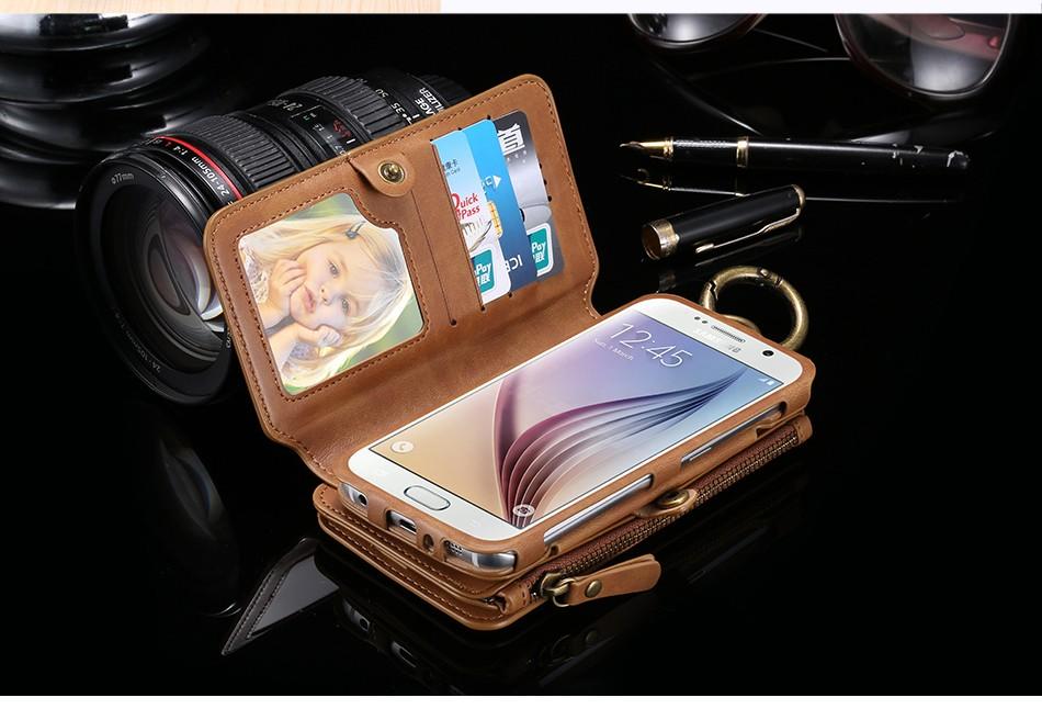 Floveme retro skóra telefon case do samsung galaxy note 3 4 5/s7/s6 edge plus metalowy pierścień coque karty portfel ochronne pokrywa 4